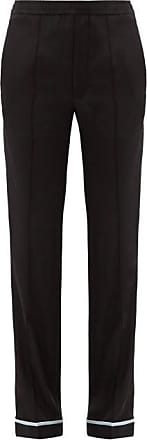 Haider Ackermann Piped-hem Silk-satin Trousers - Womens - Black