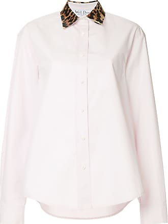 We11done contrast collar shirt - PINK