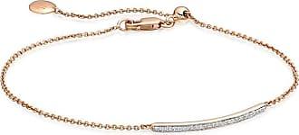 Monica Vinader Skinny Short Bar Diamond bracelet - GOLD
