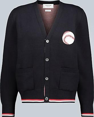 Thom Browne Cardigan Baseball Icon in cotone