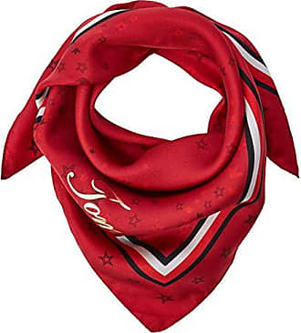 0962efe95fee Tommy Hilfiger CNY Silk Square, Foulard Tour De Cou Femme, Rouge (Red Tommy