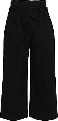 A.L.C. A.l.c. Woman Linen-blend Twill Culottes Black Size 12