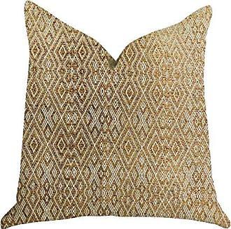 Plutus Brands Diamond Gem Double Sided King Luxury Throw Pillow 20 x 36 Brown