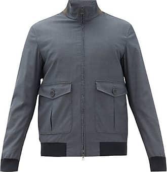 Herno X Loro Piana Stand-collar Technical Canvas Jacket - Mens - Dark Blue
