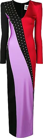 FAUSTO PUGLISI Vestido de festa color block - Preto