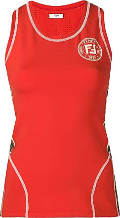 Fendi logo sports tank top - Laranja