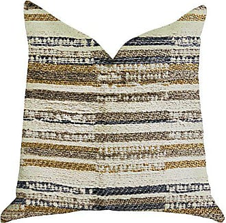 Plutus Brands Lombardi Lane Double Sided Standard Luxury Throw Pillow 20 x 26 Beige/Grey/Gold