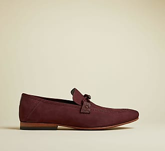 Ted Baker Suede Casual Loafer Shoes in Dark Red DAVEON, Mens Accessories