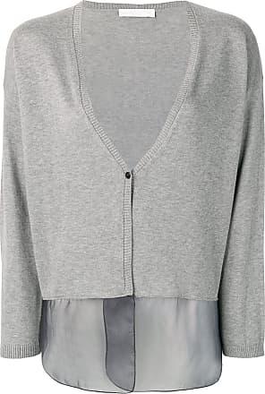 Fabiana Filippi sheer panels cardigan - Grey