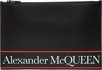 Alexander McQueen Clutch With Logo Mens Black