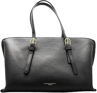 Gianni Chiarini Gianni CHIARINI Womans handbag in black hammered leather, internal compartment and pockets. BS 7666 BIOSABORSE