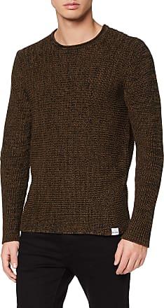 Only & Sons Mens Onssato 7 Multi Clr Knit Noos Jumper, Black (Slate Black Detail: Melange), Xx-Large
