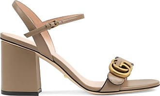 3fca47154c6 Gucci Leather mid-heel sandal with Double G