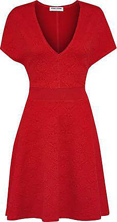 Opening Ceremony Opening Ceremony Woman Fluted Matelassé Mini Dress Red Size XS