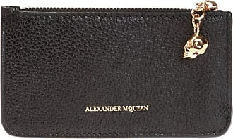 Alexander McQueen Card Case With Charm Womens Black