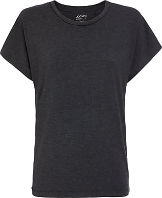 Jockey Womens T-Shirt, Black Melange, Size XL