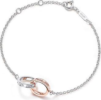 Tiffany & Co. Tiffany 1837 double interlocking bracelet in silver and Rubedo metal, mini