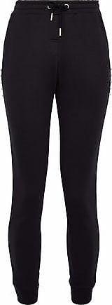Zoe Karssen Zoe Karssen Woman Barbell-embellished Cotton-terry Track Pants Black Size L