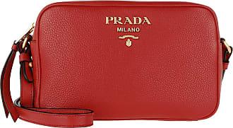 532352b51e4ff Prada Logo Crossbody Bag Calf Leather Rosso Umhängetasche rot
