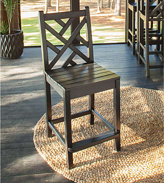 POLYWOOD Outdoor POLYWOOD Chippendale Counter Height Side Chair Slate Grey, Patio Furniture - CDD101GY