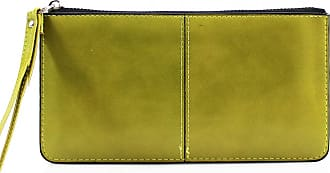 LeahWard Womens Faux Leather Wristlet Purse Nice Bag Great Brand Purses 20146 (OLIVE)