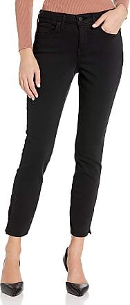 NYDJ Womens Ami Skinny Ankle with Clean Slit Jeans, Black, XXX-Small
