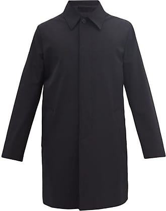 Prada Techno Fabric Car Coat - Mens - Black