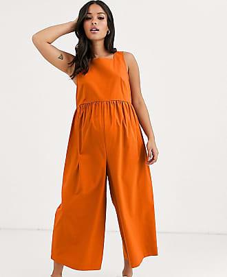 Asos Maternity ASOS DESIGN Maternity minimal jumpsuit with ruched waist-Orange