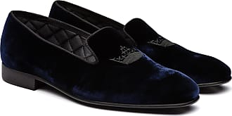 Churchs Velvet Crown Loafer Man Blue Size 11,5