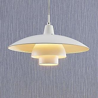 Lindby Artjom lámpara colgante de metal, blanca