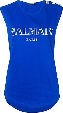 Balmain Regata com estampa de logo - Azul