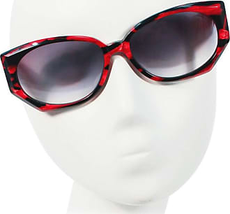 e1fdec5ff569 Krizia Vintage Black And Red Marbled Sunglasses Wide Frame Italy