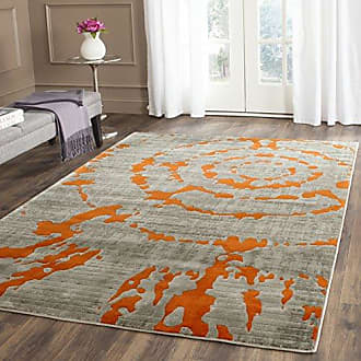 Safavieh Porcello Collection PRL7735F Light Grey and Orange Area Rug (3 x 5)