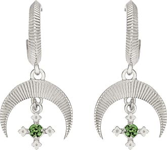 Zoe & Morgan Sacha Ohrringe Chrom Diopsid Silber - one size | sterling silver | silver | Green Forest - Silver/Silver