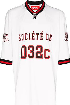 032c Camiseta com logo American football - Branco