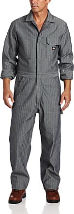 Dickies Mens Fisher Stripe Long Sleeve Coverall, Size: Large x Regular, Color: Fisher Stripe