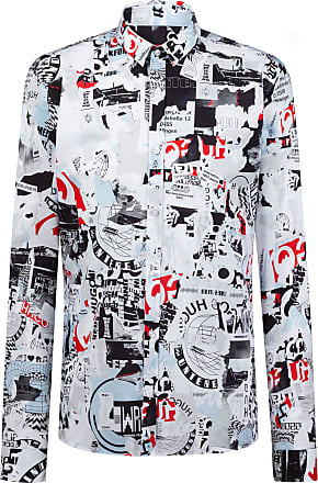 HUGO BOSS Extra-slim-fit shirt with Berlin Wall-inspired print