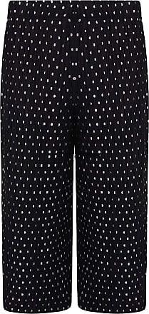 21Fashion Ladies Fancy Crinkle 3/4 Polka Dot Printed Culottes Trouser Women Party Wear Pants Black UK 24-26