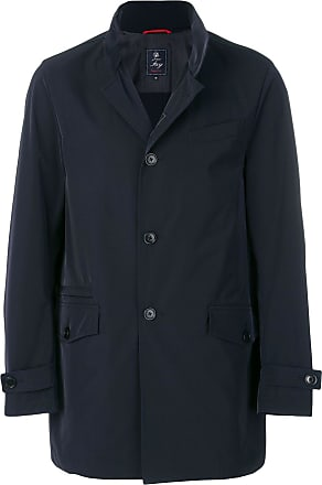 Fay single breasted coat - Blue