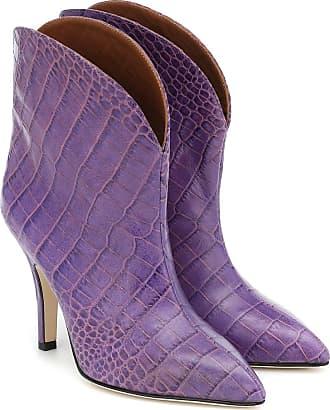 PARIS TEXAS Croc-effect leather ankle boots