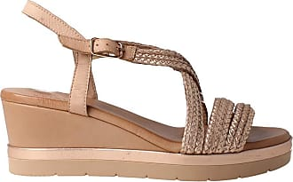 Inuovo Womens 121003 Nude Leather Sandal Beige Size: 8 UK