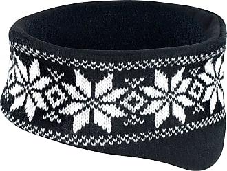 Result Soft Fair Isles Headband Winter Warm Hat Ear Muff Head Warmer Ski Snowboard (Black)