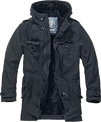 Brandit AF Parka Men Winter Jacket Black 4XL, 100% Cotton, Regular