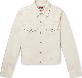 Acne Studios 1998 Distressed Denim Jacket - White