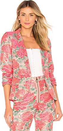 For Love & Lemons Jackpot Brocade Blazer in Pink