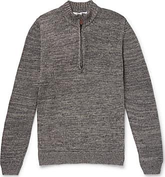 Inis Meáin Linen Half-zip Sweater - Gray