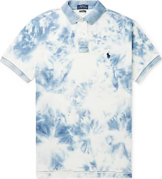 Polo Ralph Lauren Slim-fit Tie-dyed Cotton-piqué Polo Shirt - Blue