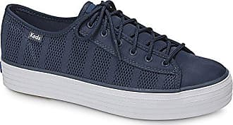 Keds Womens Triple Kick Striped Mesh Sneaker, Indigo, 8 M US