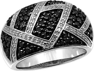 JewelersClub JewelersClub 1 Carat T.W. Black and White Diamond Ring in Sterling Silver