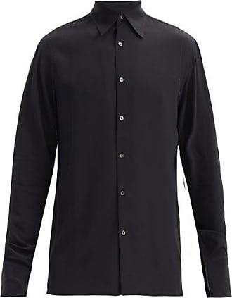 73 London Silk-georgette Shirt - Mens - Black